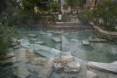 Artemis pool. Next to Pamukkale, Turkey Royalty Free Stock Images