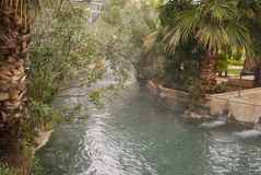 Artemis pool view. Pool of the Artemis, near Pamukkale Stock Photos