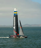 Artemis racing team sailboat Royalty Free Stock Photos