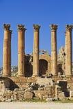 Artemis-Tempel, Jerash stockfotografie