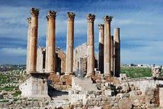 Artemis Tempel, Jerash, Jordanien Lizenzfreie Stockbilder