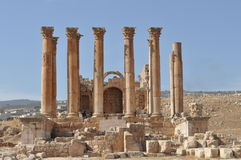Artemis temple,Jerash Stock Photo