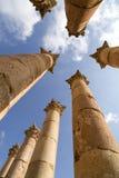 Artemis temple,Jerash. Corinthian columns in Artemis temple,Jerash Royalty Free Stock Photo