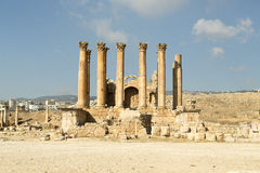 Artemis temple,Jerash Royalty Free Stock Image