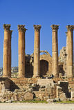 Artemis temple , Jerash. Corinthina columns in Jerash Artemis temple , Jordan Stock Photography