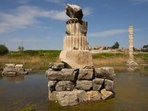 Artemis Temple-ruïnes Stock Afbeeldingen