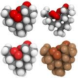 Artemisinin (Qinghaosu) molecule. A molecule of Artemisinin (Qinghaosu), a drug used to treat malaria Royalty Free Stock Photos