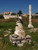 Artemission tempel Arkivfoto