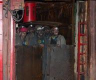 Artemivs'k,乌克兰- 2013年8月, 06日:矿工矿名为Artem 免版税库存图片