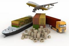 Arten des Transportes des Transportierens sind Lasten Stockfotos