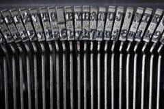 Arten einer alten Schreibmaschine Stockfotografie