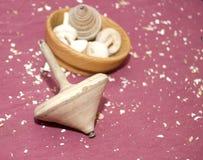 Artenales bedekt met de hand gemaakte houten stock foto's