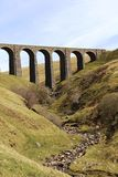 Artengill Viaduct Dentdale Settle Carlisle railway Royalty Free Stock Photos