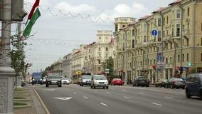 Arteria principale di trasporto di Minsk archivi video