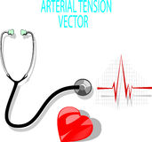 Arterial tension. Can be used in advertising of a doctor's office, site, or for any other purpose related to the health of the heart and cardiovascular system Stock Photos