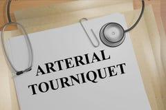 Arterial Tourniquet concept Royalty Free Stock Photo