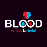 Arterial and venous blood, blood circulation conceptual vector i Royalty Free Stock Image