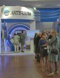Arterium Ukrainian pharmaceutical company booth Royalty Free Stock Photo