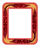 Artery Disease Frame. As a coronary medical concept as a rectangular border design vein with gradual plaque formation as clogged arteries and atherosclerosis as Royalty Free Stock Image