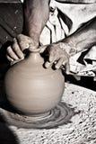 Artesão da argila Imagens de Stock