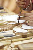Artesão da madeira Imagens de Stock