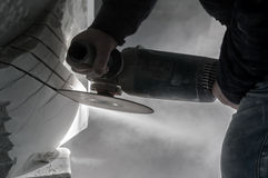 Artesões de mármore Imagem de Stock
