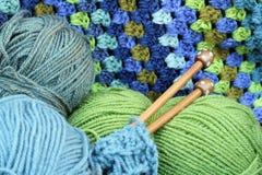 Artes azules y verdes del hilado Fotografía de archivo