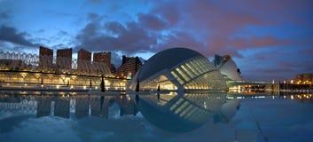 artes ciencias ciudad de las西班牙巴伦西亚y 免版税库存图片