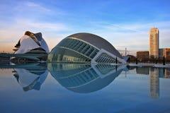 artes ciencias ciudad de las西班牙巴伦西亚y 库存照片