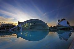 artes ciencias ciudad de las西班牙巴伦西亚y 免版税图库摄影