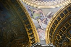 Artes da basílica de Saint Mary Major, Itália Imagens de Stock Royalty Free