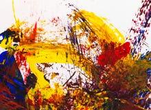 Artes da pintura na textura de papel do sumário do fundo Fotos de Stock