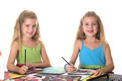 Artes das irmãs & sorriso do ofício imagem de stock royalty free