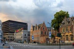 Artes de beaux do DES de Palais em Bruxelas Imagens de Stock Royalty Free