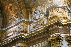 Artes de la basílica del santo Mary Major, Italia Imagen de archivo libre de regalías