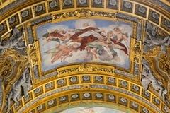 Artes de la basílica del santo Mary Major, Italia Foto de archivo libre de regalías