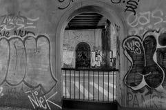 ARTES DE LA ESTACIÓN DE TREN DE NORRPORT STOPGRAFFITI O VANDALISUM Imagenes de archivo