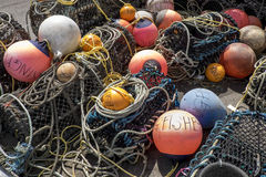 Artes de pesca imagen de archivo libre de regalías