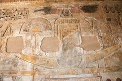 Artes do templo de Medinet Habu foto de stock royalty free