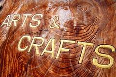 Artes e inscripción de los artes Imágenes de archivo libres de regalías