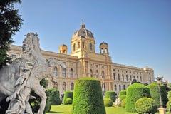 Artes e museu da história, Viena, Áustria Kunsthistorisches Foto de Stock