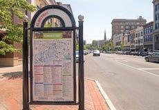 Artes eléctricos distrito, muestra de la ciudad y mapa céntrico Fotos de archivo libres de regalías