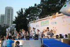 Artes en el evento de Mardi Gras del parque en Hong Kong Imagenes de archivo