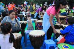 Artes en el evento de Mardi Gras del parque en Hong Kong Foto de archivo