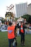 Artes en el evento de Mardi Gras del parque en Hong Kong Fotografía de archivo