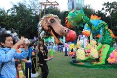 Artes en el evento de Mardi Gras del parque en Hong Kong Fotos de archivo