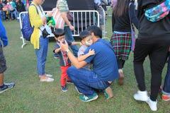 Artes en el evento de Mardi Gras del parque en Hong Kong Imagen de archivo libre de regalías