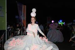 2014 artes en el evento de Mardi Gras del parque en Hong Kong Fotografía de archivo libre de regalías