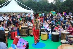 2014 artes en el evento de Mardi Gras del parque en Hong Kong Imagen de archivo libre de regalías