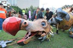 2014 artes en el evento de Mardi Gras del parque en Hong Kong Fotos de archivo libres de regalías